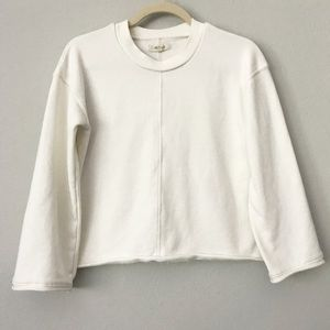 Madewell Cream Cropped Sweatshirt in Sz XS